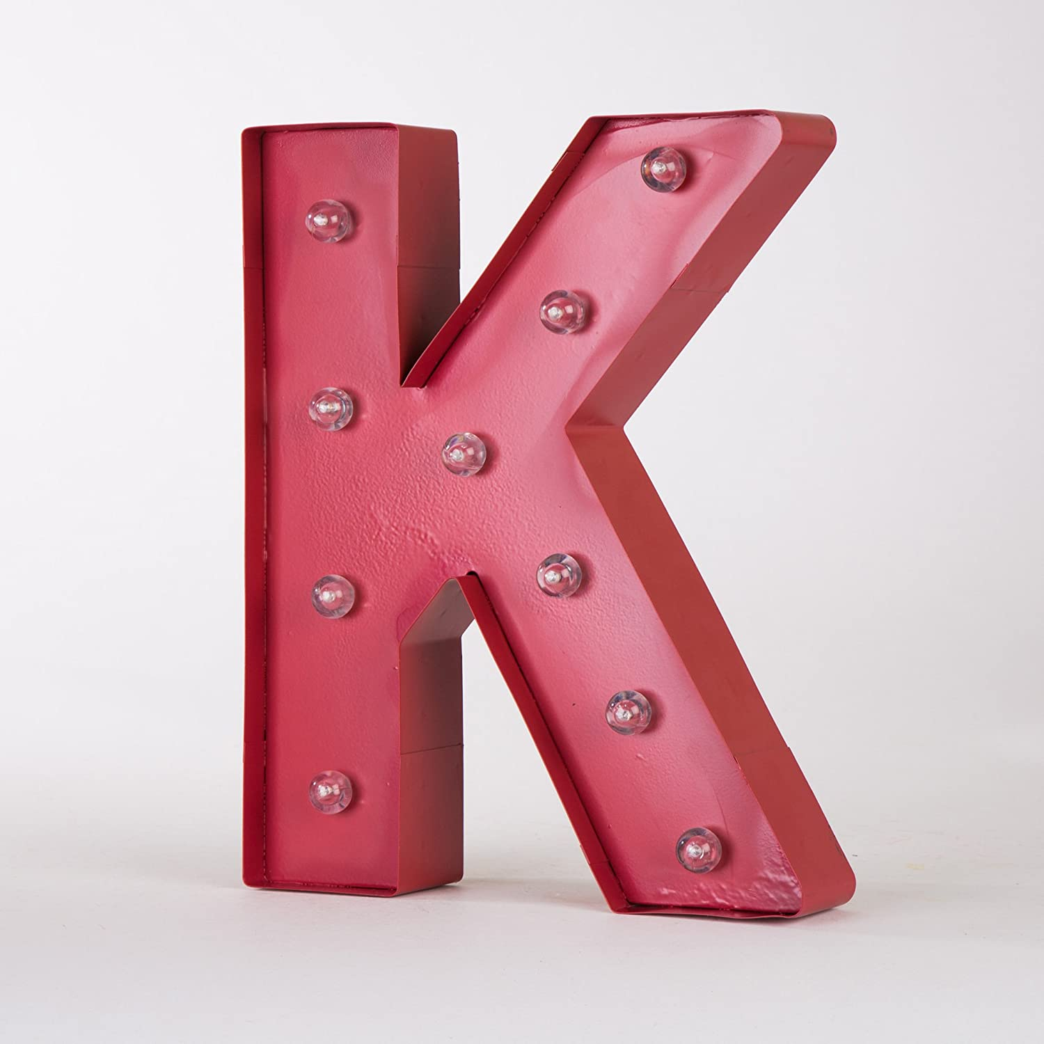 Amazon.com: Glitzhome Vintage Marquee LED Lighted Letter K Sign ...