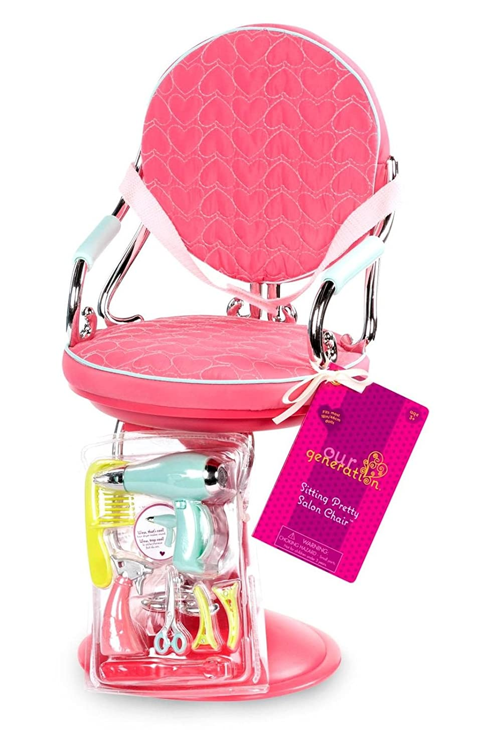 /OG Dressing Chair with Pink Hearts Our Generation BD37336/