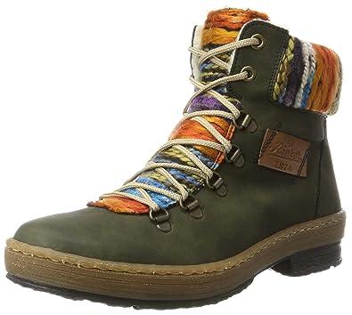 Womens Z6743 Boots, Green, 3.5 UK Rieker