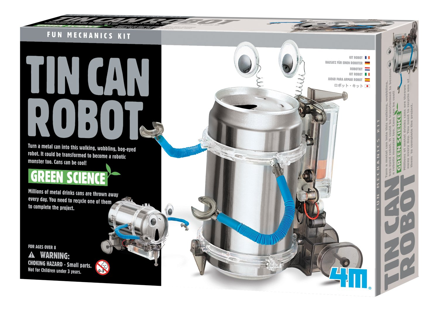 4m Tin Can Robot Toys Games Short Circuit Project Reuses Unwanted Kitchen Appliances Images