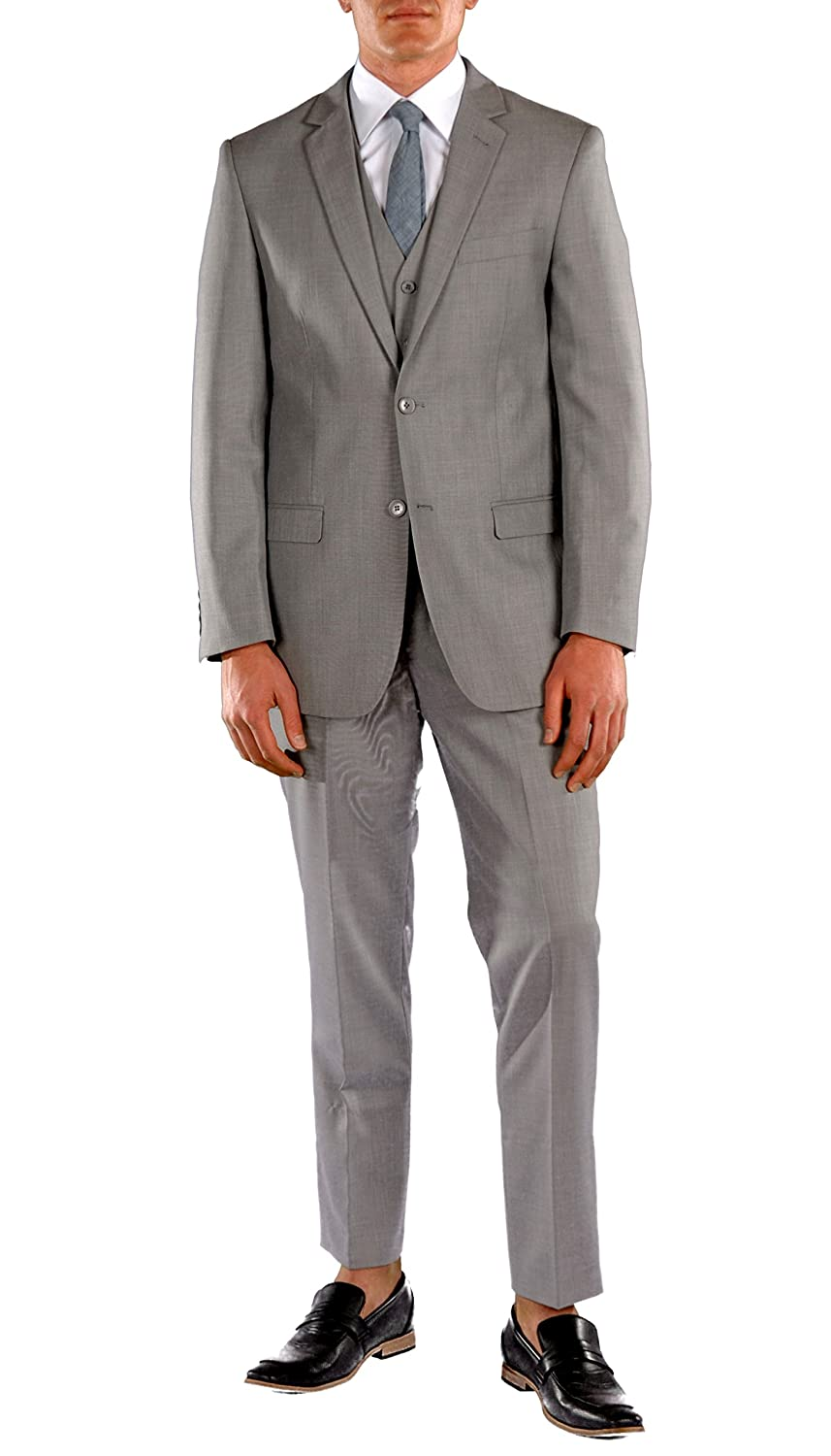 Ferrecci Zonettie Mens Slim Fit 3-Piece Suits - Blazer Jacket Trousers & Vest LAZIO