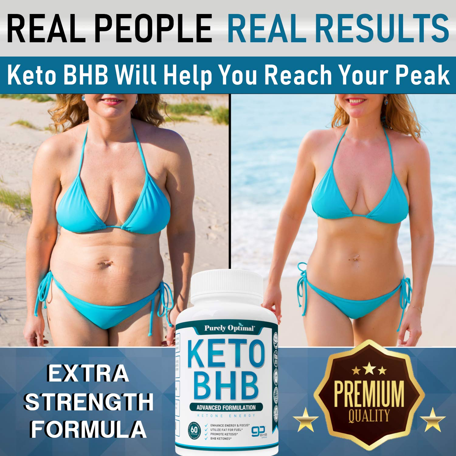 Premium Keto Diet Pills - Utilize Fat for Energy with Ketosis - Boost Energy & Focus, Manage Cravings, Support Metabolism - Keto BHB Supplement for Women and Men - 30 Day Supply by PURELY OPTIMAL (Image #4)