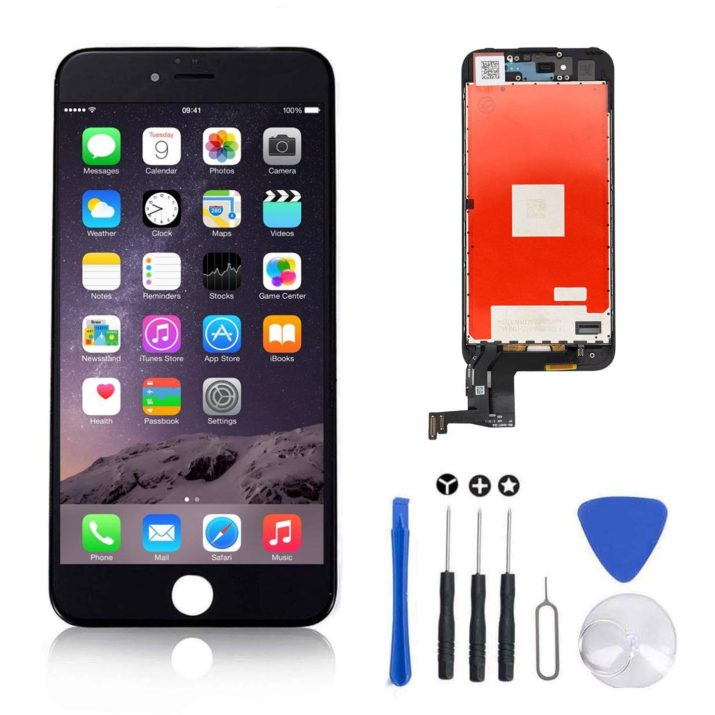 competitive price 4eb1c 4cc6d Screen Replacement for IPhone 7 Plus Black for LCD Display & Touch Screen  Digitizer Frame Assembly Set with 3D Touch Free Repair Tool