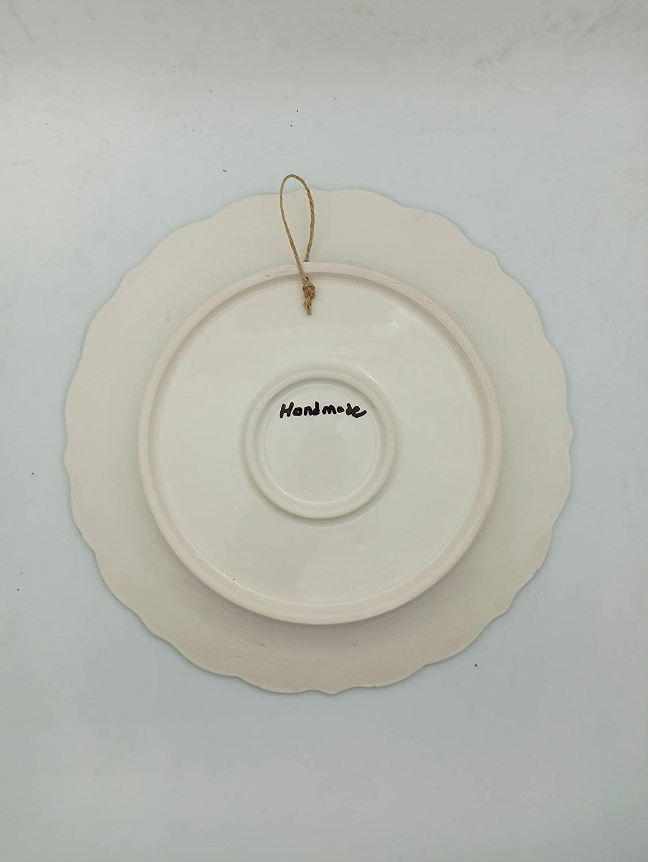 Ayennur Turkish Handmade Decorative Ceramic Plate for wall Decor ornament 9.84
