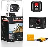 ICONNTECHS IT Caméra Action 4K étanche Caméra Sportive pour la Plongée Wifi Angle de Vision 170° 60fps 12MP HD Sport Action Cam Casque Caméra Sous-marine Caméscope avec Contrôle à Distance