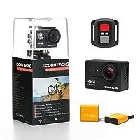 ICONNTECHS IT Action Camera 4K 12MP HD Action Cam per Casco Videocamera Subacquea wifi 170 Gradi Grandangolare Fotocamera Sportiva Impermeabile per Snorkeling Immersione Fotocamere con Telecomando