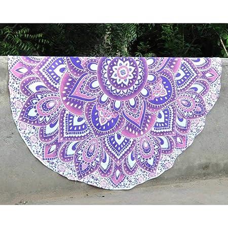 Indian Handicrafts Export Pink Round Beach Towel Round ...