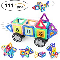 Angelabasics 111 Piece Magnetic Magnetic Building Set