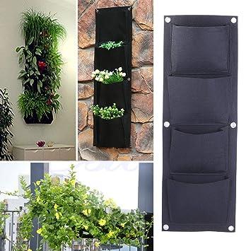 OneMoreT - Bolsas de jardinería con 4 bolsillos para colgar ...