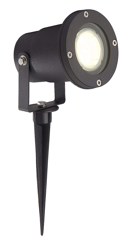Brilliant AG Scott-Faretto per esterni ad incastro, 250 lumen, in alluminio e vetro, 35 W GU10 nero