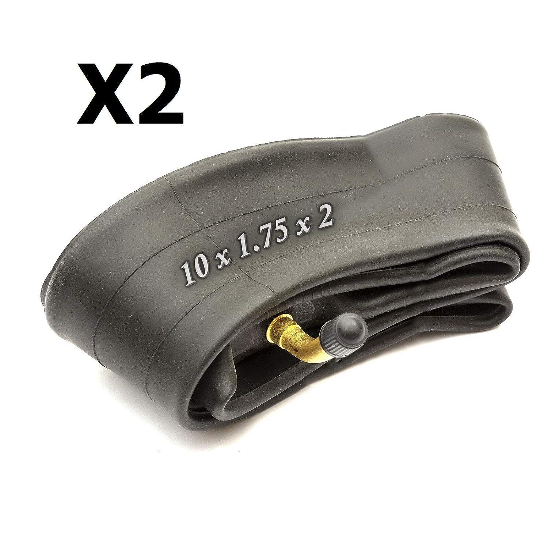 2 x PRAM INNER TUBES BENT VALVE HAUCK PUSCHAIR BUGGY