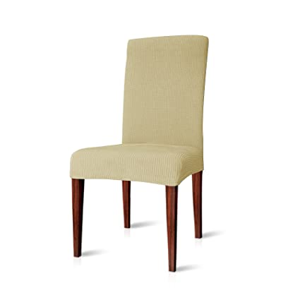 Miraculous Chun Yi Dining Chair Covers Stretch Jacquard Polyester Spandex Anti Stain Washable Dining Room Parsons Chair Slipcovers 2Pcs Light Yellow Squirreltailoven Fun Painted Chair Ideas Images Squirreltailovenorg