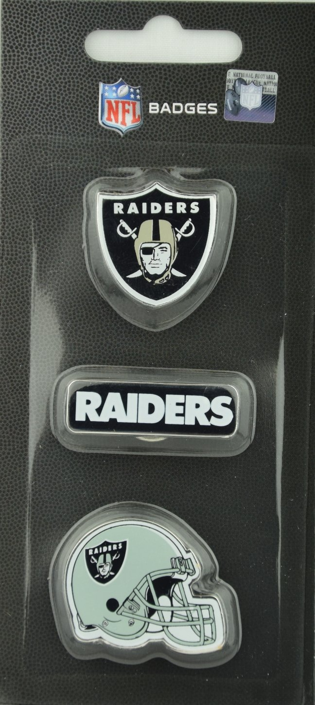 NFL Football Oakland Raiders dreiteiliges Pin Badge Set Forever Collectibles