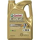 Castrol 1598EF Edge Extended Performance 5W-20 Advanced Full Synthetic Motor Oil, 5 Quart
