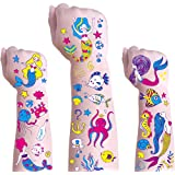 Temporary Tattoos for Kids,Girl Party Supplies Temporary Tattoos,Waterproof Children Party Favors Body Stickers Glow in the D