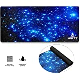 Large Gaming Mouse Pad Extended Mousepad Mouse Pat with Durable Stitched Edges Game Mouse Mat Ideal for Desk Cover, Computer Keyboard, PC and Laptop (30.7x11.8x0.12IN) Star Sky