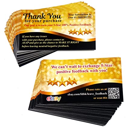 Amazon Com 200 Ebay Thank You For Your Purchase Cards Stickers