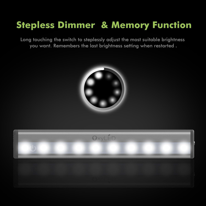Oxyled Touch Capteur Armoire Lumière 10 DEL 2 Packs tactile robinet Stick DEL sous