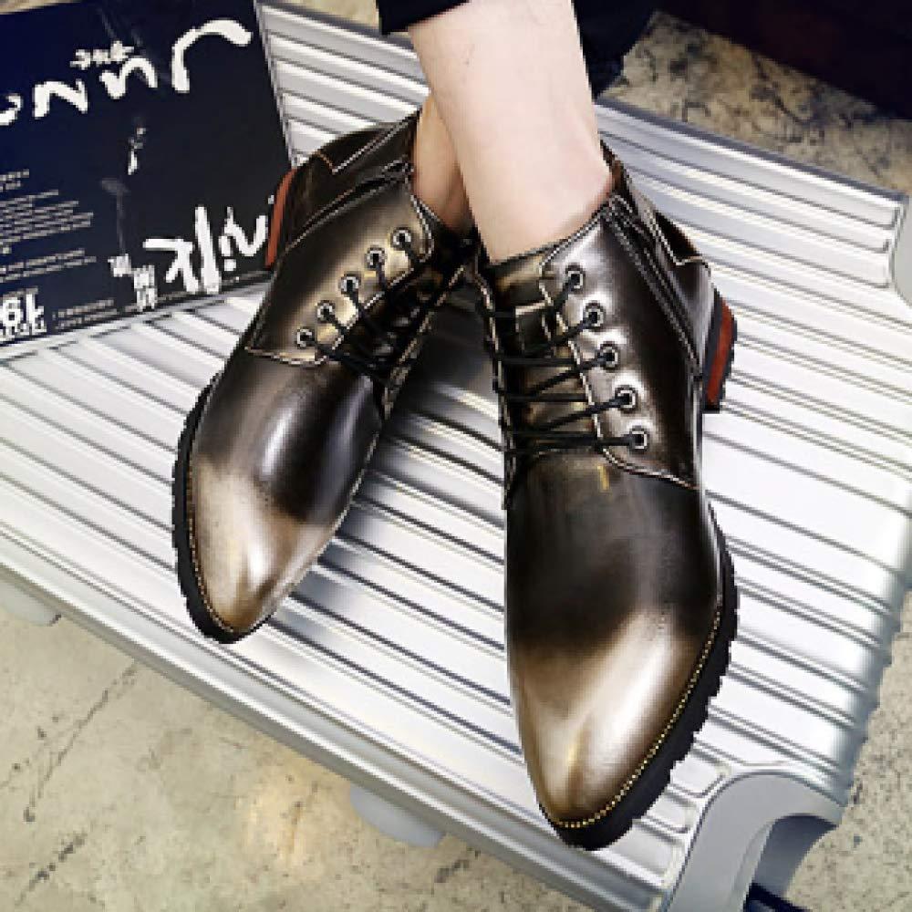 XINGF Casual Casual Casual Businessschuhe Für Männer, Britische Retro-Stiefel, Mode-Hochzeitsschuhe Für Die Jugend 2c83c9