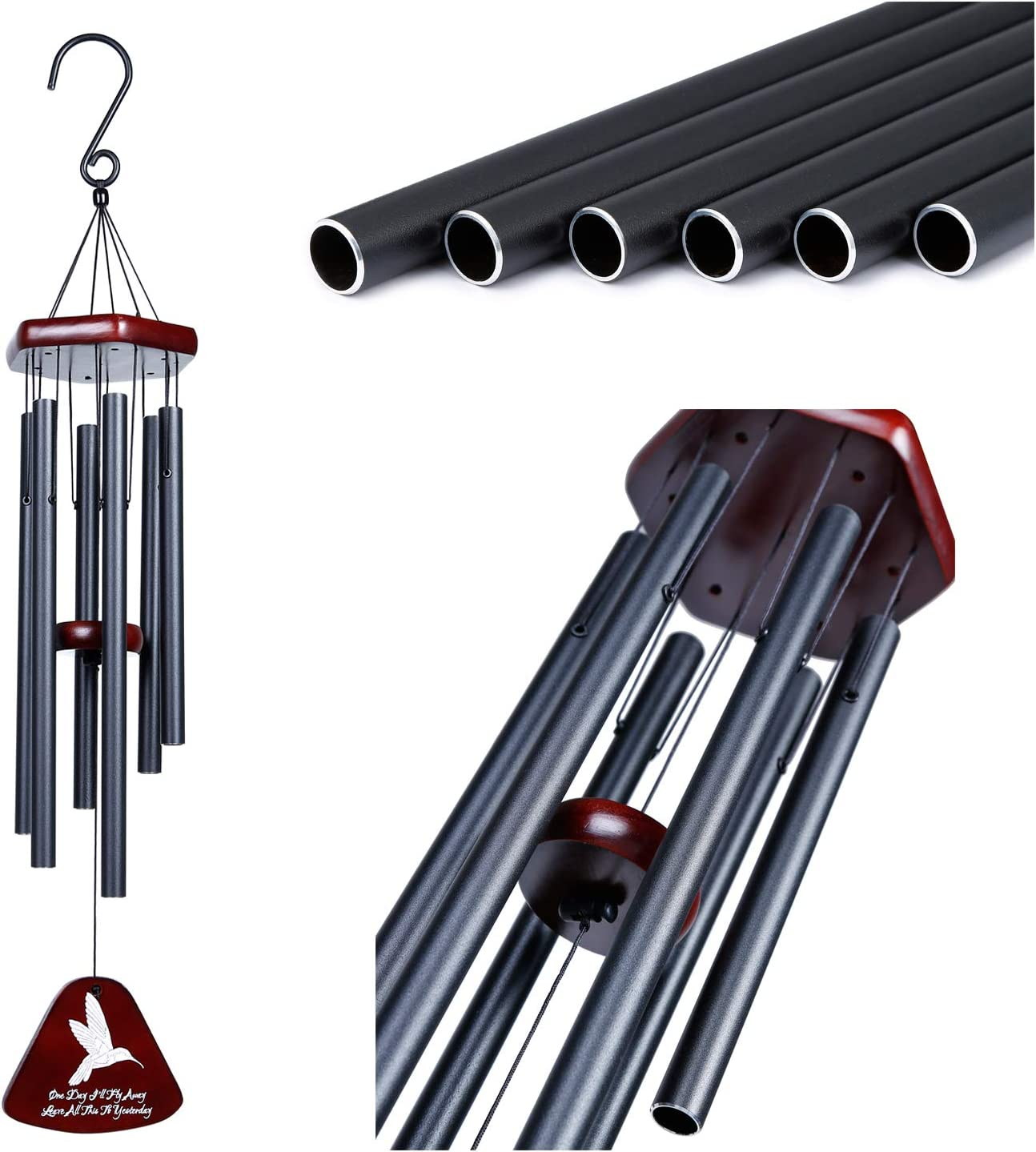 Aedgoye Sympathy Wind Chimes for Outside, Memorial Wind Chimes for Loss of A Loved One Prime Soothing Melodic Tones&Great As A Quality Gift Or to Keep for Your Own Patio, Porch, Garden, Or Backyard