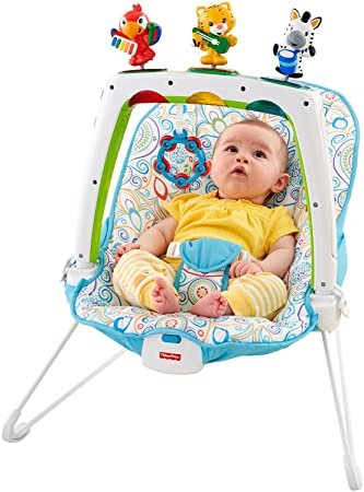 5d75eaf7514f Amazon.com   Fisher-Price Musical Friends Bouncer   Baby