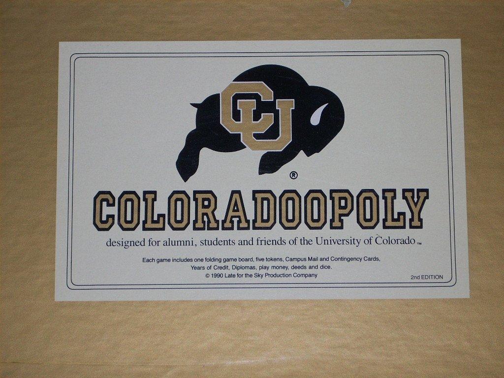 Amazon COLORADOOPOLY University Of Colorado Rams Board Game