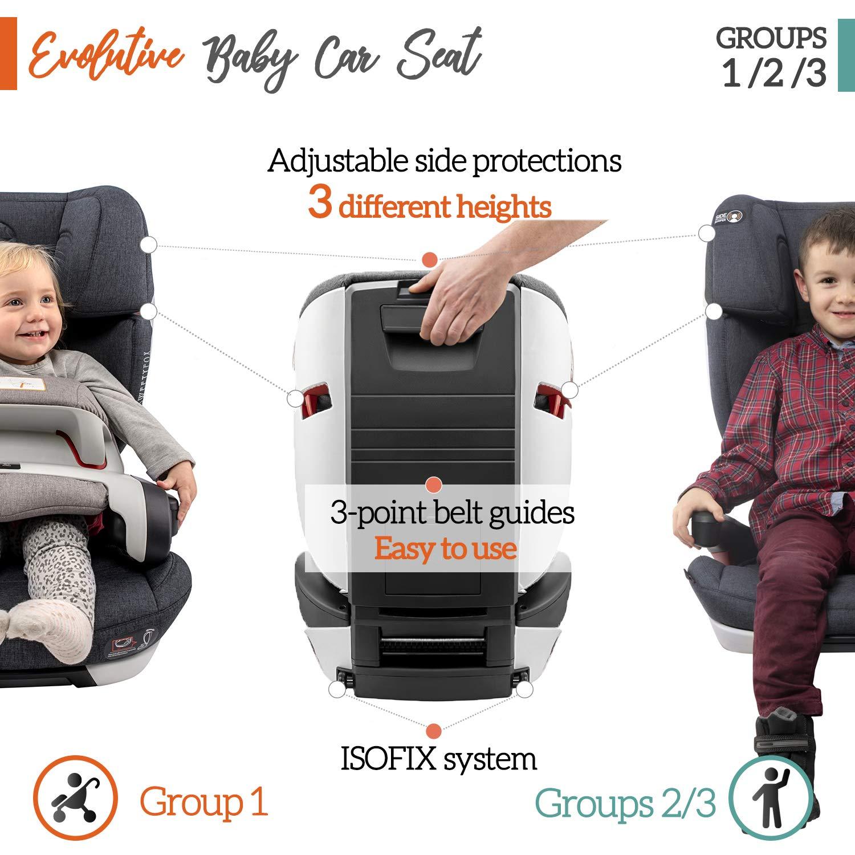 mit Fangk/örper Norm ECE R44//04 Gruppe 1//2//3 Maximale Sicherheit f/ür Ihr Baby 9-36kg Babys und Kinder ⭐ Kindersitz 9-36kg mit Isofix - Autositz Sitzerh/öhung Autokindersitz