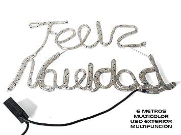 CARTEL FELIZ NAVIDAD LUMINOSO COLORES: Amazon.es: Juguetes y ...