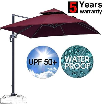 Amazon.com: Patiassy - Paraguas cuadrado doble superior para ...