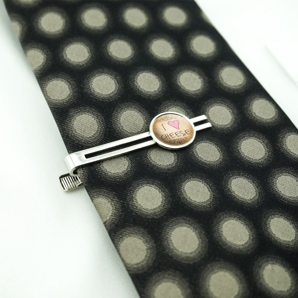 I Heart Love Cheese Vintage Mens Tie Clip Tack Bar