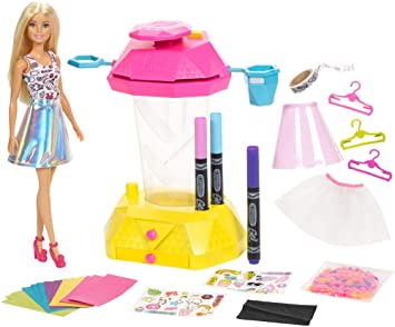 Barbie- Crayola Confetti Skirt Studio Muñeca, Moda Confeti, (Mattel FRP02)