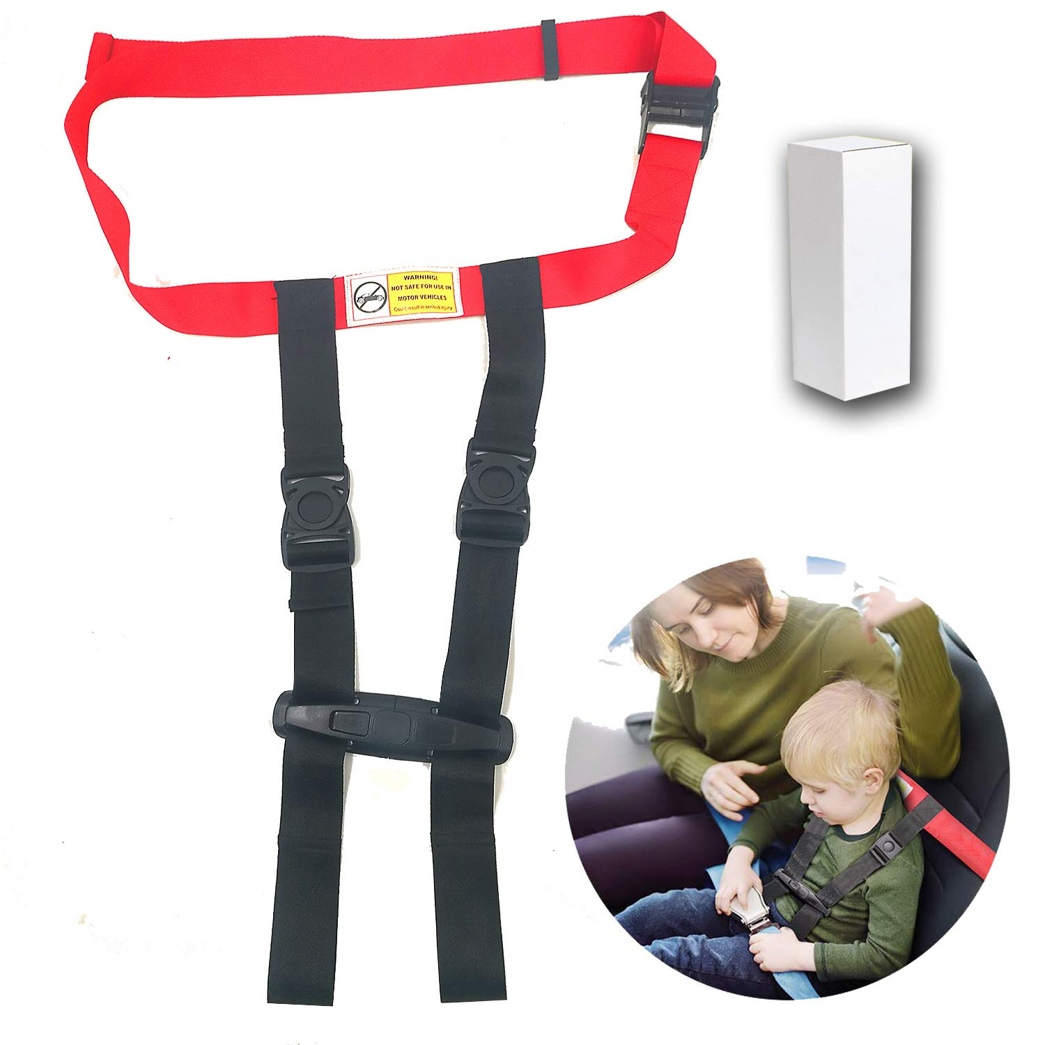 Child Airplane Safety Travel Harness ~ Clip Strap Safety Airplane Child Restraint System for Baby,Toddlers & Kids ~ Airplane Travel Accessories for Aviation Travel Use (Basic Style)