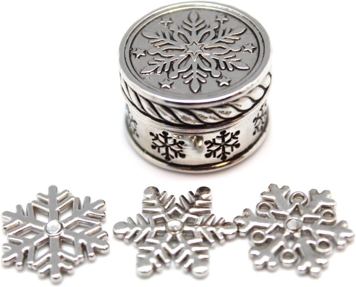 Amazon Com Triple Snowflake Holiday Trinket Ganz Snowflake Wishbox And Charms Toys Games