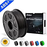 SUNLU ABS Plus 3D Printer Filament, ABS Filament 1.75 mm, 3D Printing filament Low Odor Dimensional Accuracy +/- 0.02 mm, 2.2 LBS (1KG) Spool 3D Filament for 3D Printers & 3D Pens,Black ABS+