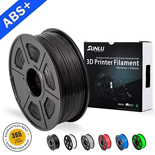 1 opinioni per SUNLU ABS Filaments for 3D Printer-Black ABS Filament 1.75 mm,Low Odor