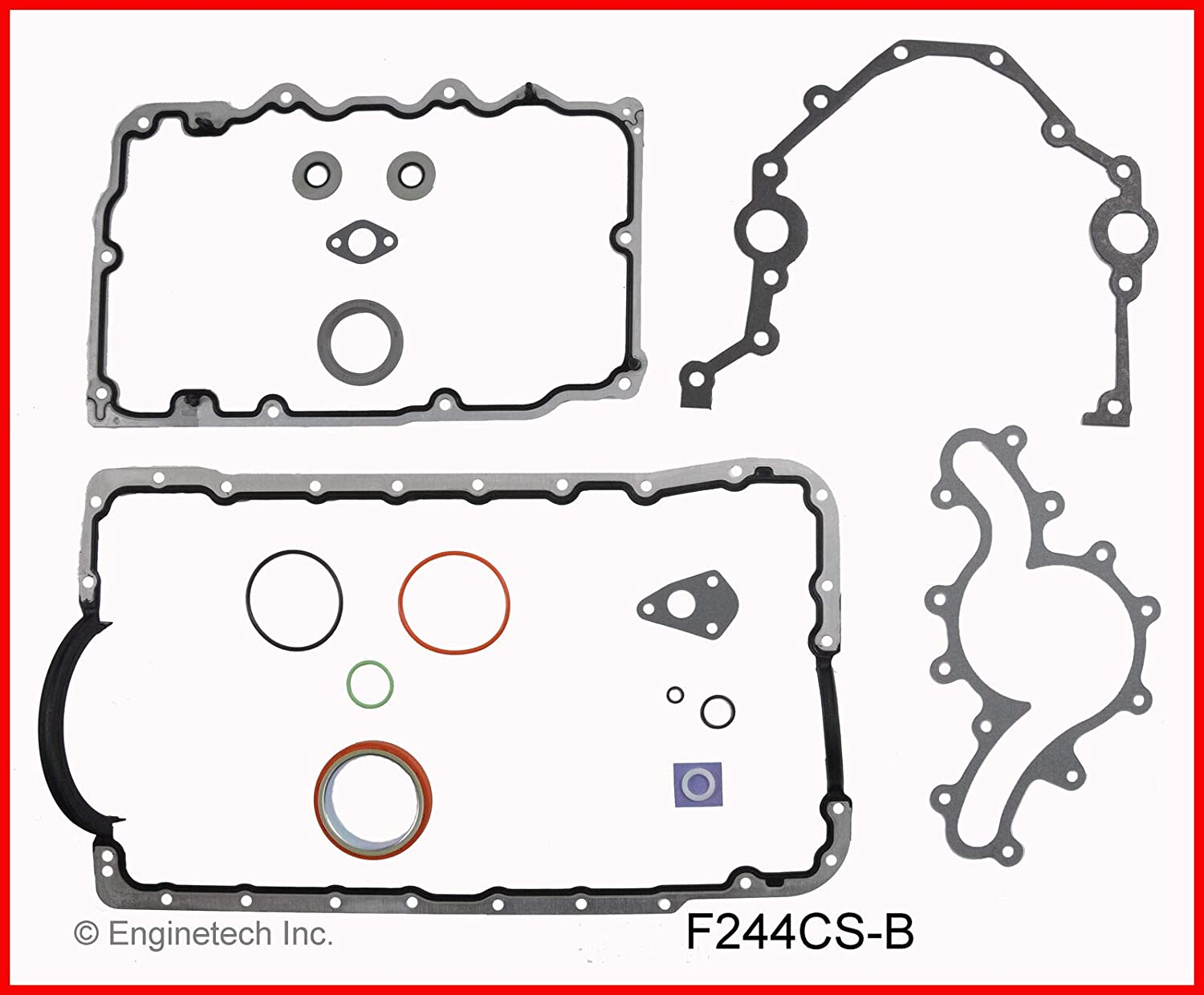 ENGINETECH F244CS-B Lower Conversion Gasket Set Compatible with 1997-2011 Ford Mazda Land Rover 244 4.0L SOHC V6 12-Valve Truck /& Car Engines