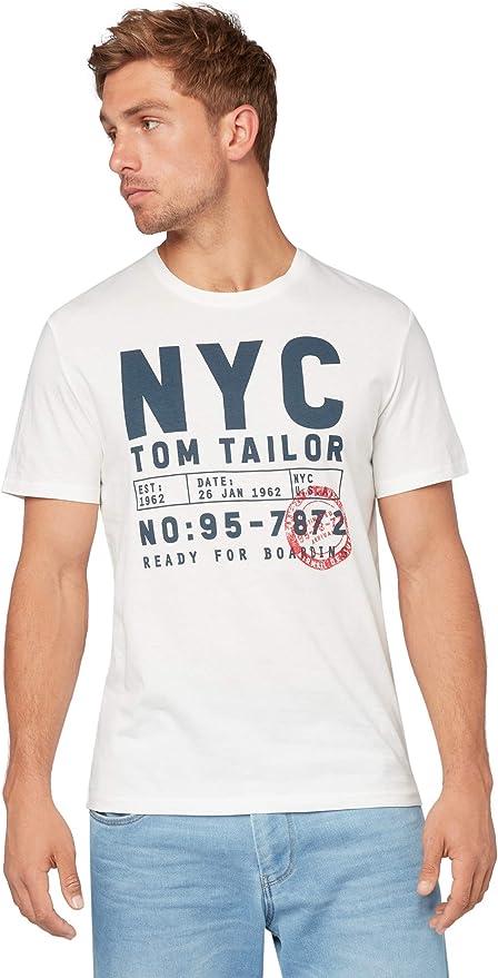 Tom Tailor Camiseta para Hombre Estampado: Amazon.es: Ropa y accesorios