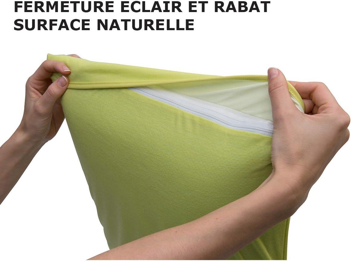 Fresh Imperm/éable et Respirante Taie dOreiller 70x40cm Grise