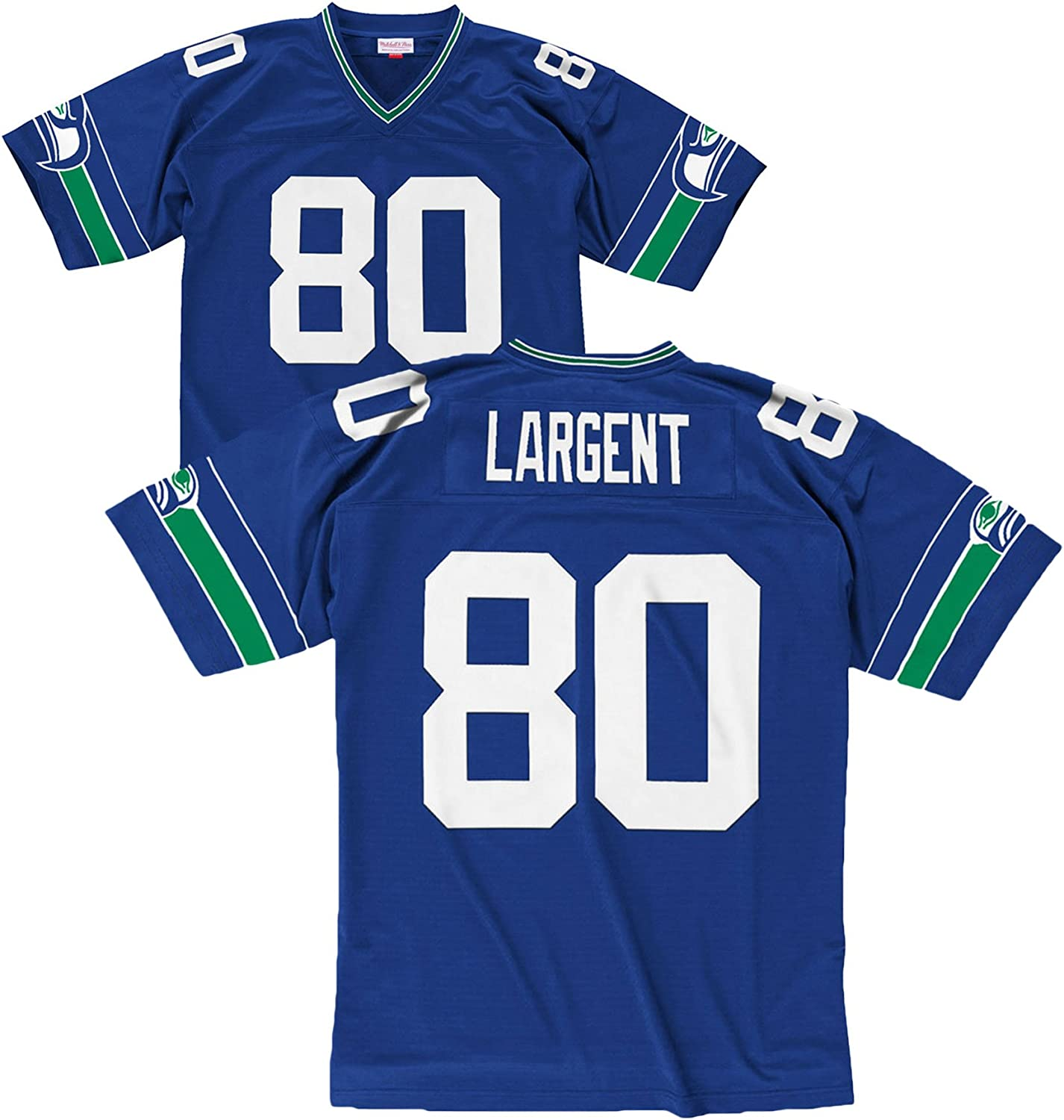 Mitchell & Ness Steve Largent Blue Seattle Seahawks Throwback Jersey
