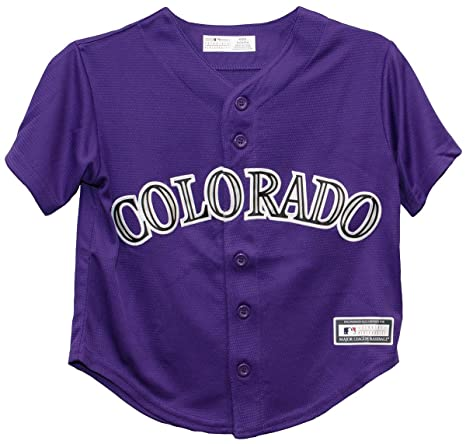 67adf14ba Image Unavailable. Image not available for. Color  Outerstuff Colorado  Rockies Alternate Purple Cool Base Toddler ...