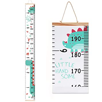 Pink Whale Wood Frame Fabric Canvas Height Chart for Kids Accmor Kids Growth Chart Easy to Install /& Remove Kids Height Wall Chart Hanging Height Chart Wall Ruler