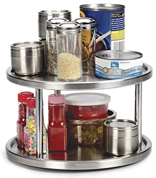 Awesome RSVP Endurance Stainless Steel 2 Tier Kitchen Turntable