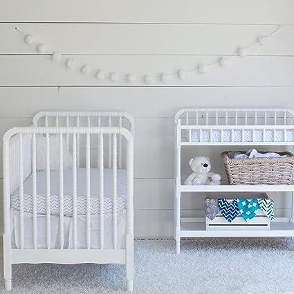 Ziggy Baby Crib Sheet Fitted Jersey Cotton Chevron Cross Blue//Grey