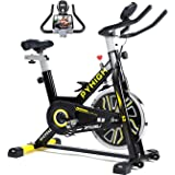 PYHIGH Indoor Cycling Bike Belt Drive Stationary Bicycle Exercise Bikes with LCD Monitor for Home Cardio Workout Bike…