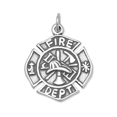 Amazon 925 sterling silver firefighter maltese cross charm 925 sterling silver firefighter maltese cross charm aloadofball Choice Image