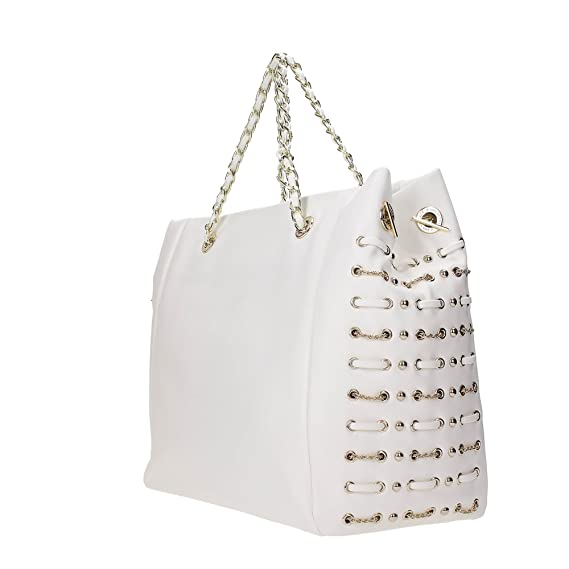 c1ed312a303b Versace Jeans E1VPBBX5 Shopper Bag Women WHITE TU  Amazon.co.uk  Clothing