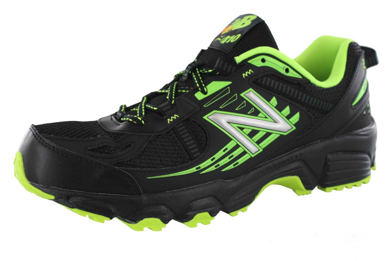 New Balance Men's, 410v4 Trail Running Shoes Black Lime 9.5 4E