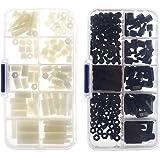 Tinksky Distanziatori esagonali 300pcs M3 Nylon dado Stand-off accessori in plastica assortimento Kit viti