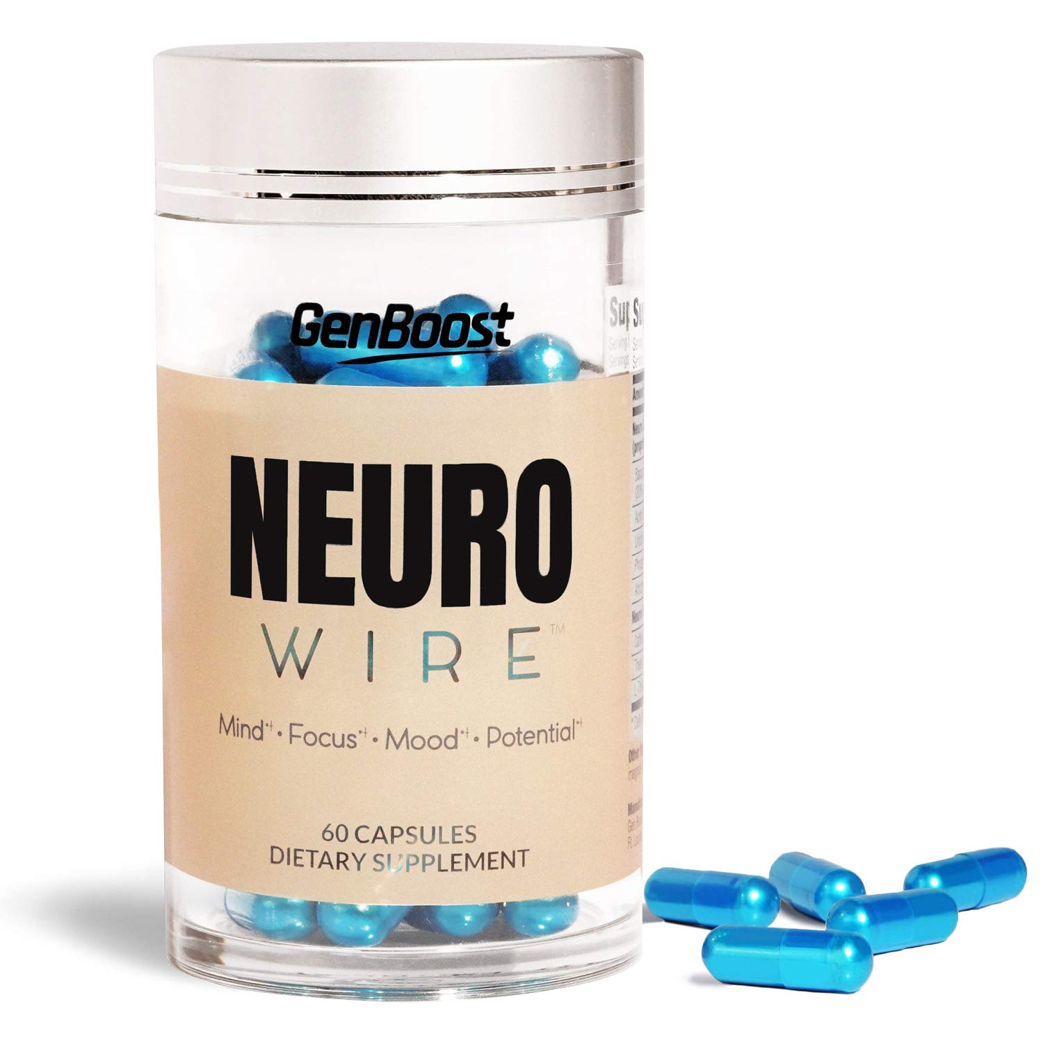 Neuro Wire Brain Performance Supplement (30 Serv) - Memory, Focus & Energy Formula - Nootropic Scientifically Formulated with Quality Ingredients - Bacopa Monnieri, Uridine, Acetyl L Carnitine & More