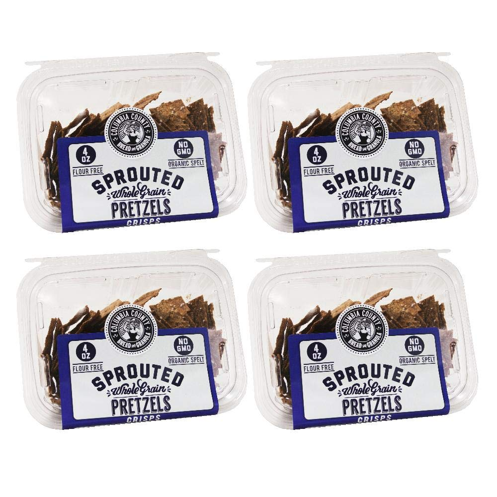 Sprouted Wheat Crisps (4-pack) (Pretzel)